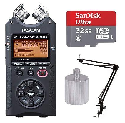 Amazon.com: Tascam DR-40 Portable Grabadora digital w Knox ...
