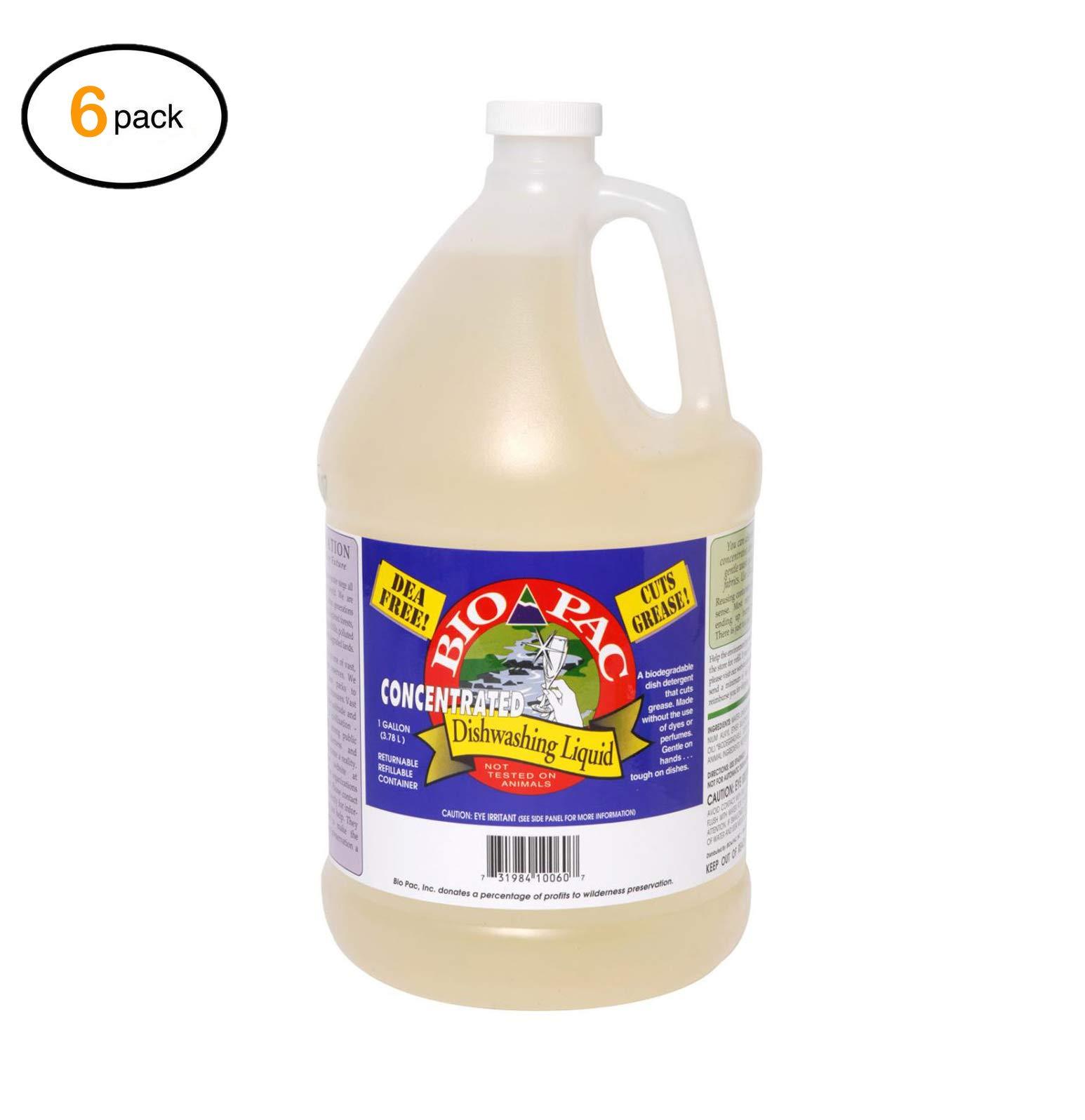 Biо-Pac Dishwashing Liquid - Cоncеntratеd - Casе оf 6-1 Gal - Bulk Buy