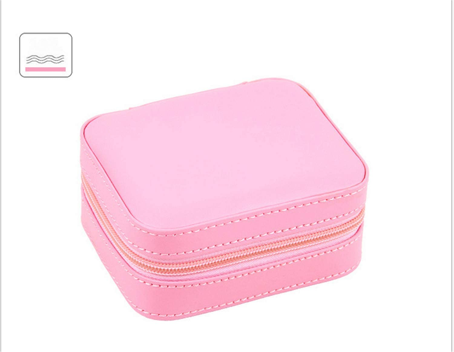 UNIQUE-F Jewelry Storage Box Simple European Artificial Leather Earrings Hair Card Ear Clip Necklace to Clean Up 3 Colors