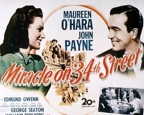 Miracle on 34th Street Featuring Maureen O'Hara, Edmund Gwenn, John Payne, Natalie Wood 11x14 Promotional - 34th Street Shops On