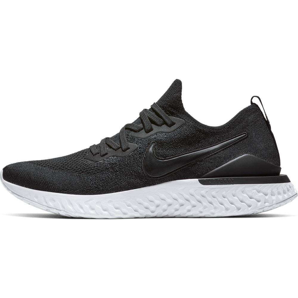 Nike Mens Epic React Flyknit 2 Running Shoes (Black/White/12 D by Nike
