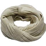 f602cc74a5ca WUDUBE Écharpe en laine, Femmes Mode Tricot Chaud Cou Cercle Mélange De  Laine Cowl Snood