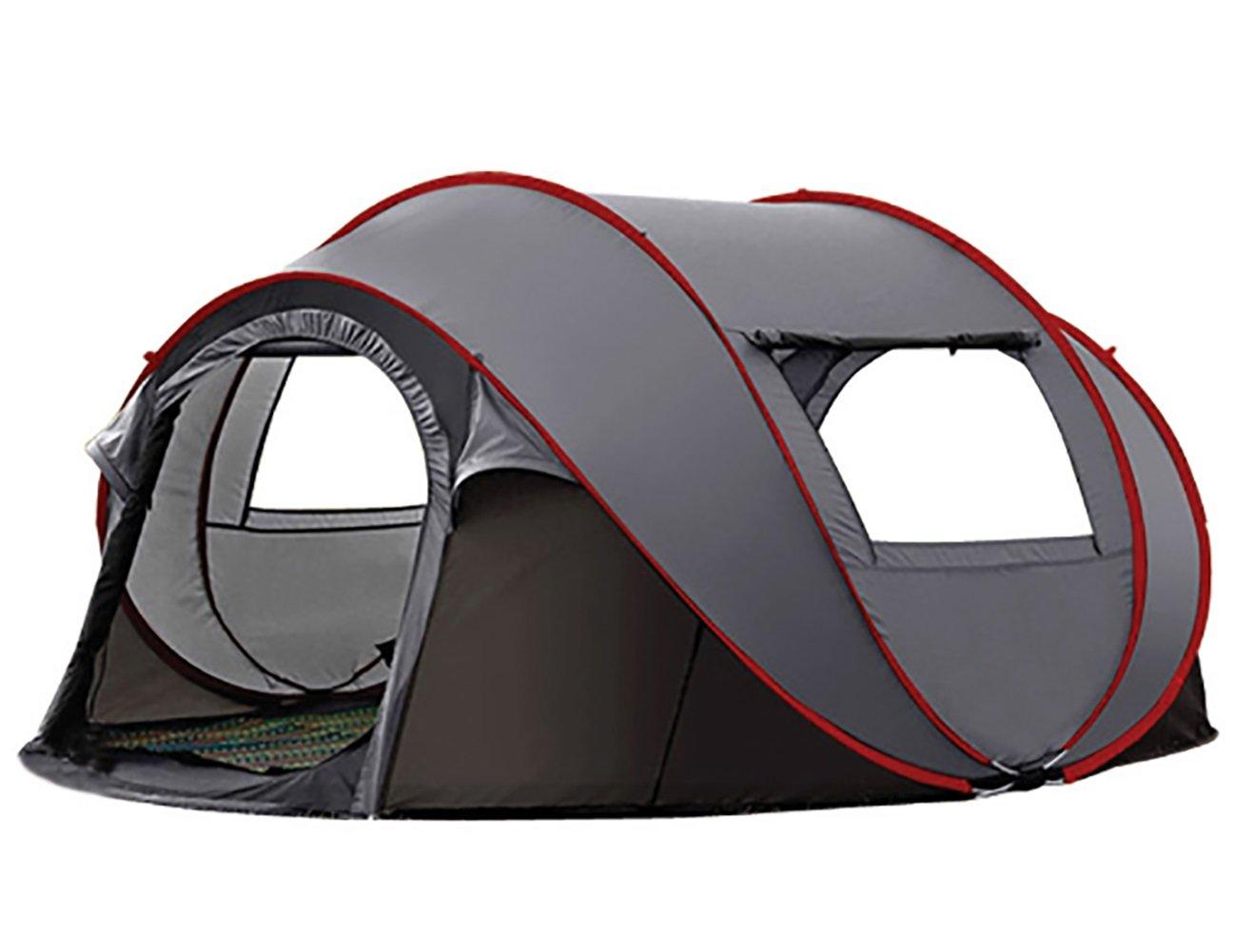 KOKR Automatisches Wasserdichtes Zelt Nur 3-4 Erwachsene Doppeltes Regendichtes Sonnenschutzes des Zelt-CampFeuer Campingzelt