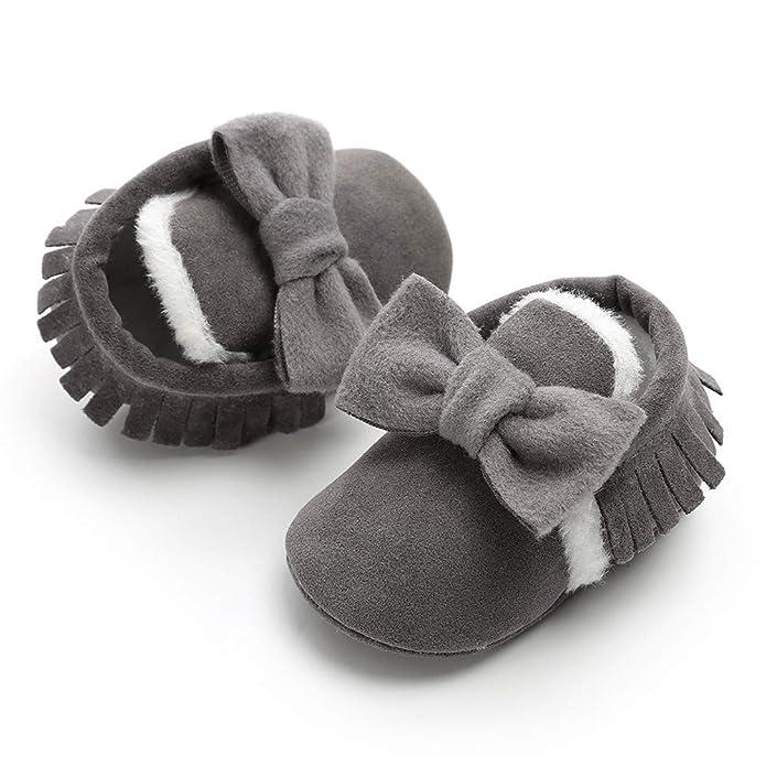 Amazon.com: Waymine Toddler Baby Girls Bowknot Tassel Winter Warm ...
