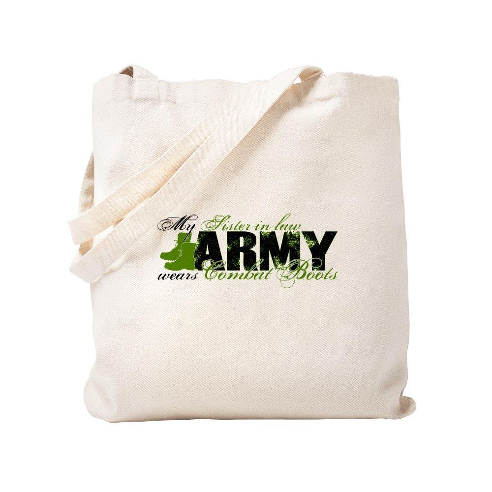 CafePress - Sis Law Combat Boots - ARMY - Natural Canvas Tote Bag, Cloth Shopping Bag
