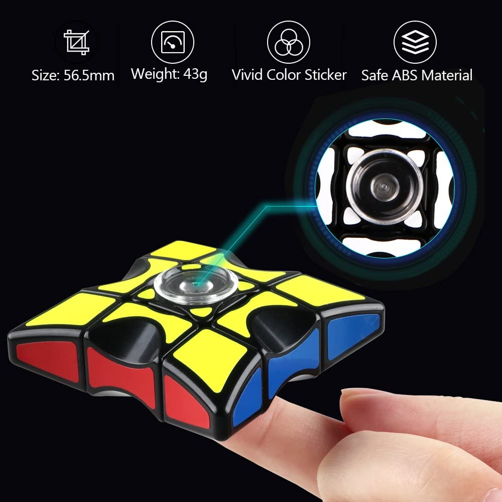 D-FantiX Fidget Spinner Cube, 1x3x3 Floppy Cube Puzzle Spinner Anti-Anxiety Fidget Toys for Kids Audlts