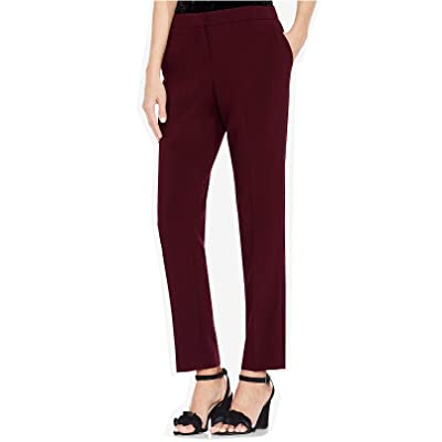 Vince Camuto Women's Skinny Pants (Deep Claret, 0) at Women's Clothing store