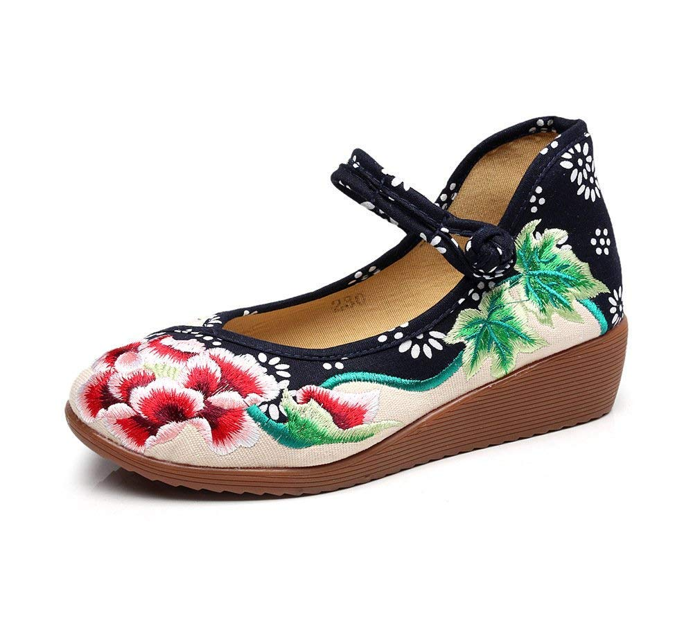 Fuxitoggo Bestickte Schuhe Leinen Sehnensohle Ethno-Stil Frauenschuhe Mode Mode Mode bequem lässig Meter weiß 38 (Farbe   - Größe   -) 947aa1