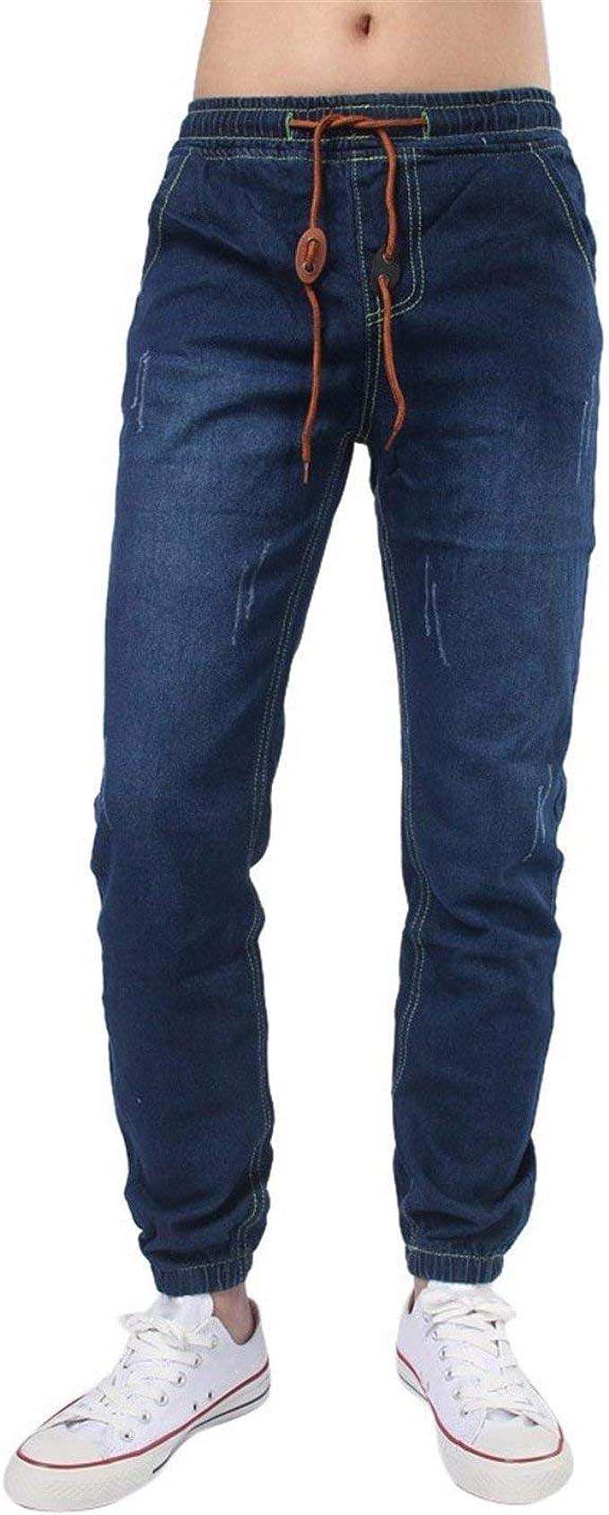 cooperare Ricreazione cristallo  Jeans da Uomo Polsini E Coulisse con Stretta Vintage Comfy Denim Mode di  Marca Pant Autunno Inverno Moda Casual Jeans Pantaloni Pantaloni Lunghi:  Amazon.it: Abbigliamento