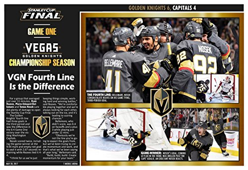 PosterWarehouse2017 VEGAS GOLDEN KNIGHTS WIN GM. 1 OF THE STANLEY CUP FINALS COMMEMORATIVE POSTER