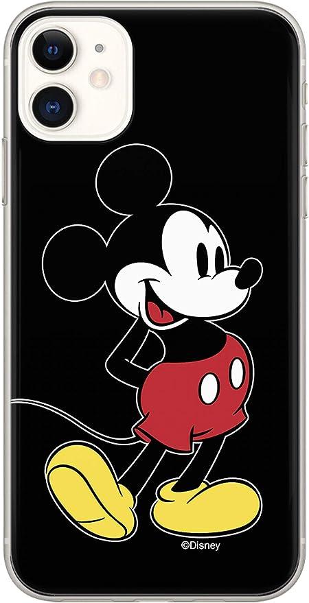 ERT DPCMIC18695 - Custodia per iPhone 11, motivo: Topolino, colore: Nero