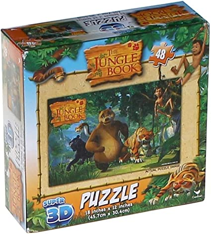 dealsKart Super 3D Puzzle The Jungle Book (48 pc)