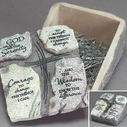 Resin Serenity Prayer Keepsake Box - Perfect Religious Gift