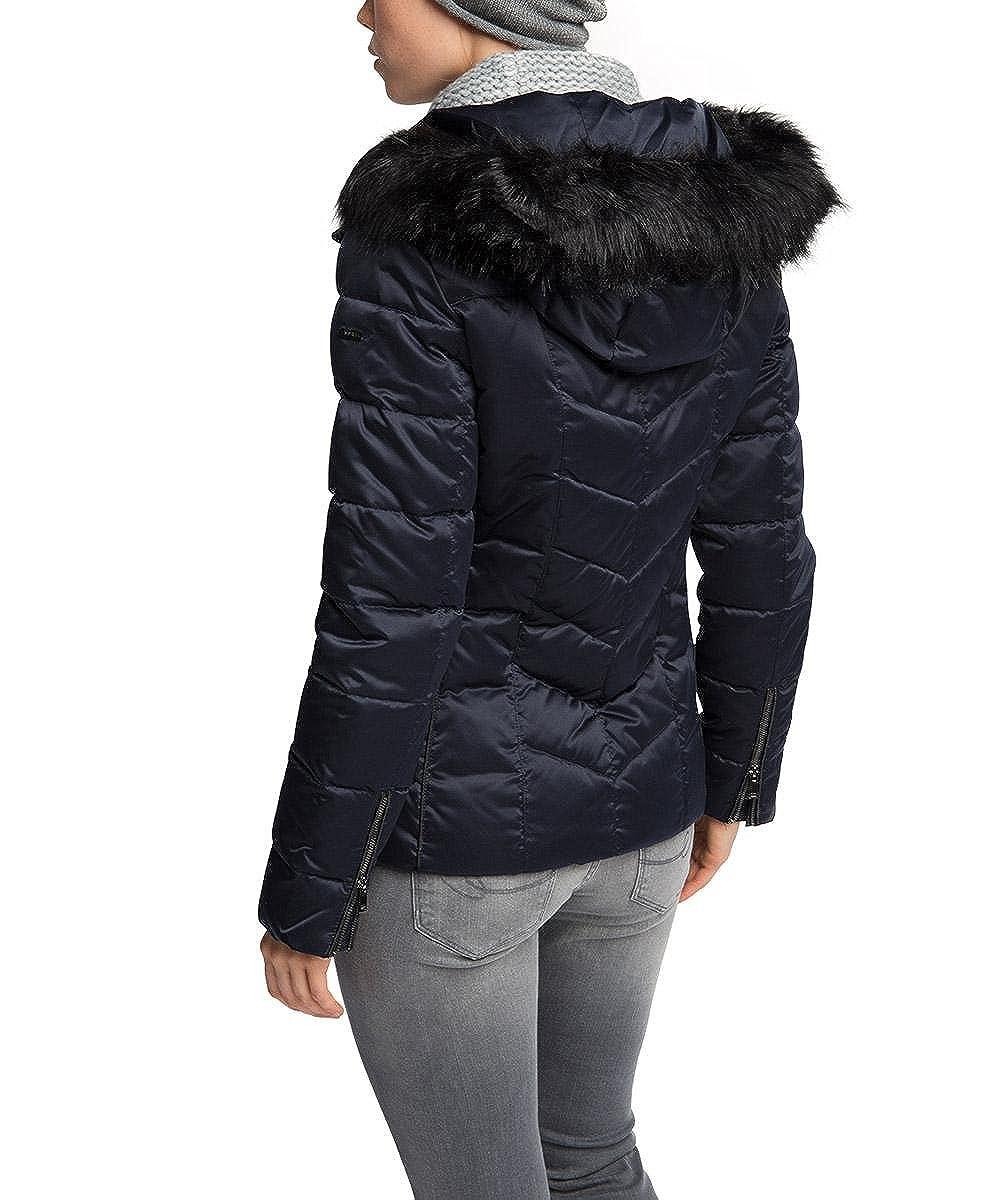 a520220ac8023 ESPRIT Collection Veste - Manches Longues Femme - Bleu - 34  Amazon.fr   Vêtements et accessoires