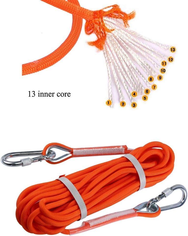8mm de Di/ámetro Selighting Cuerda de Seguridad Cuerda de Escalada Profesional de Alta Resistencia para Escalar al Aire Libre y en Interiore Perfessional Rappelling Auxiliar