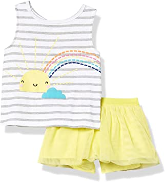 GERBER Baby Girls 2-Piece Tank and Bike Short Set