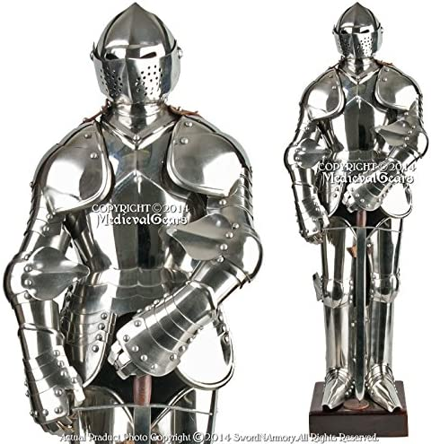 Medieval Gears Brand Stainless Steel Mini Duke of Burgundy Suit of Armor Medieval Knight with Sword