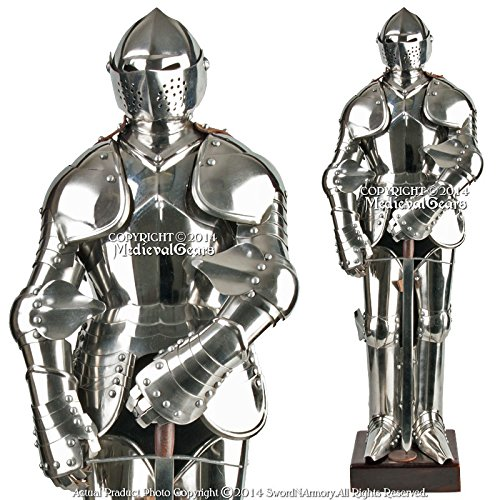 Medieval Gears Brand Stainless Steel Mini Duke of Burgundy Suit of Armor Medieval Knight with - Medieval Suit Of Armor Knight