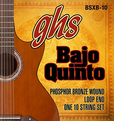(GHS Strings GHS PHOSPHOR BRONZE BAJO QUINTO Strings - Loop End (BSXB-10))