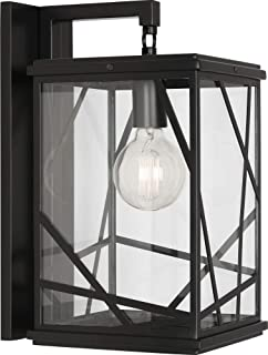 product image for Robert Abbey 564 Michael Berman Bond - One Light Wall Sconce, Black Powdercoat Finish with Clear Glass