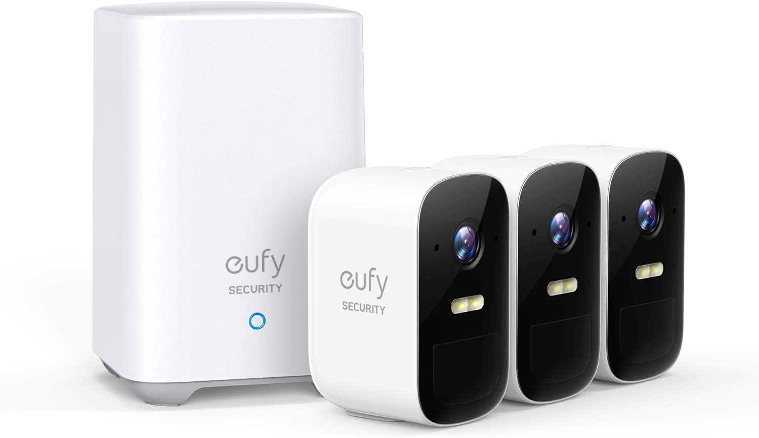eufy Security, eufyCam 2C Wireless Home Security Camera System, 180-Day Battery Life, HD 1080p, IP67 Weatherproof, Night Vision, Compatible with Amazon Alexa, 3-Cam Kit, No Monthly Fee