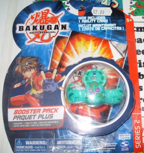 (Bakugan Battle Brawlers B2 Bakuswap Legendary Series: B2 Green Apollonir Booster Pack with Random Gate and Ability)