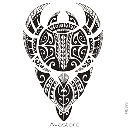 Tatuaje Temporal Maori Tahitien tatuaje efímero Maori Tahitien ...