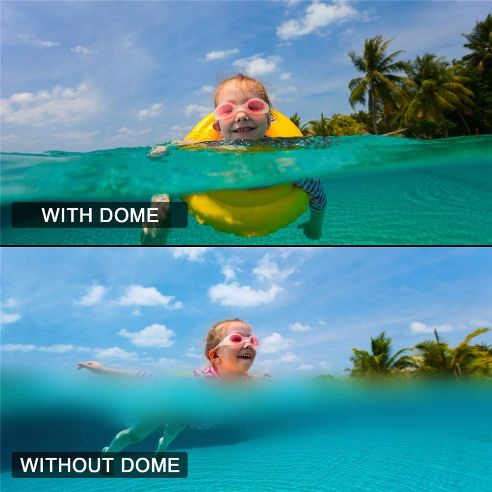 Diving Transparent GoPro Dome Lens Waterproof Housing with Floaty Hand Grip Underwater Case for GoPro Accessories Dome Port for GoPro Hero 8 Black