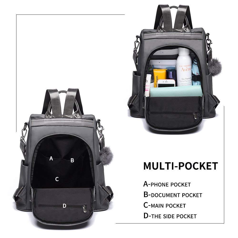 Noney Women Backpack Purse Nylon Anti-theft Waterproof Shoulder Schoolbags