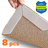 wood renew - Rug Grippers X-PROTECTOR – Best 8 pcs Anti Curling Rug Gripper. Keeps Your Rug in Place & Makes Corners Flat. Premium Carpet Gripper with Renewable Gripper Tape – Ideal Anti Slip Rug Pad for Your Rugs