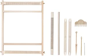 "Large Weaving Loom Kit, Tapestry Weave Loom,Weaving Beginners,Woven Wall Art,Lap Heddle Loom with Stand(32cm X 40cm) 12.5""x 15.7"" (S)"