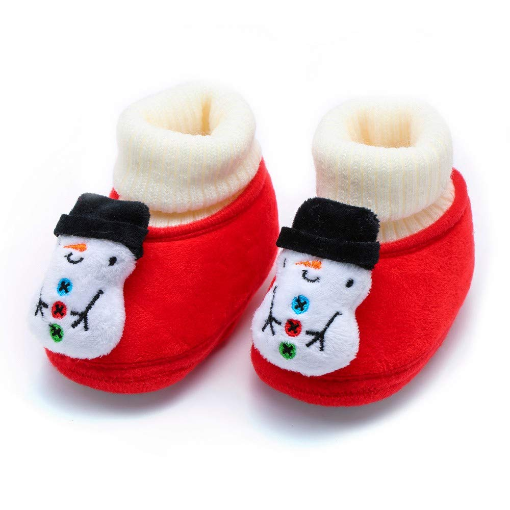 Infant//Toddler Lurryly❤Snow Boots for Girls Boys Christmas Deer Warm Boot Soft Sole/ Shoes