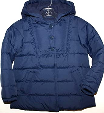 2d95952069052 Baby Gap Girl s Navy Blue Warmest Polyester Fill Puffer Coat with Hood ...