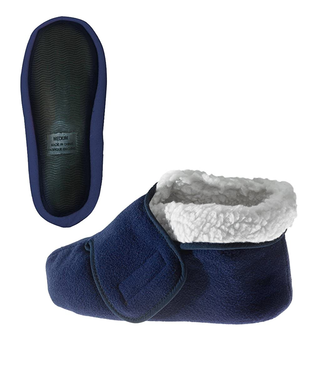 Silverts Disabled Elderly Needs Womens/Mens Slip Resistant Bootie Slipper With Adjustable Closures Silvert's 10160