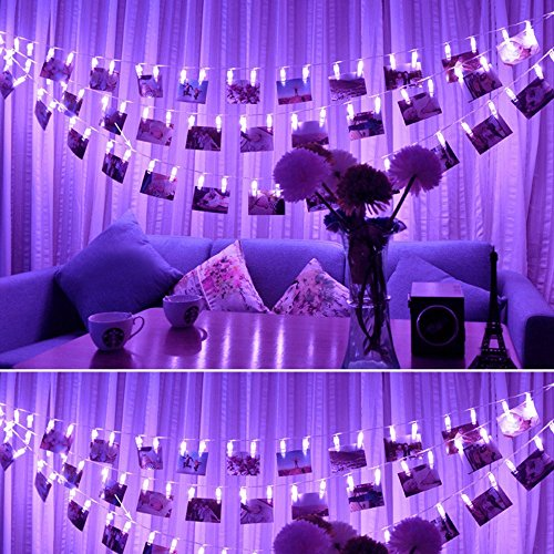 40 LED Photo Clips String Lights - NETCAT USB Powered Christmas String Lights for Wedding Party Home Dorm Wall Decor, Clips Lights for Christmas Cards Photos, Best Gifts for Teen Girls-Christmas gift