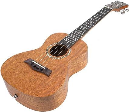 23 Portátil de Caoba Africana Estilo Antiguo Ukelele 4 cuerdas Hawaii guitarra instrumento musical(amarillo): Amazon.es: Instrumentos musicales