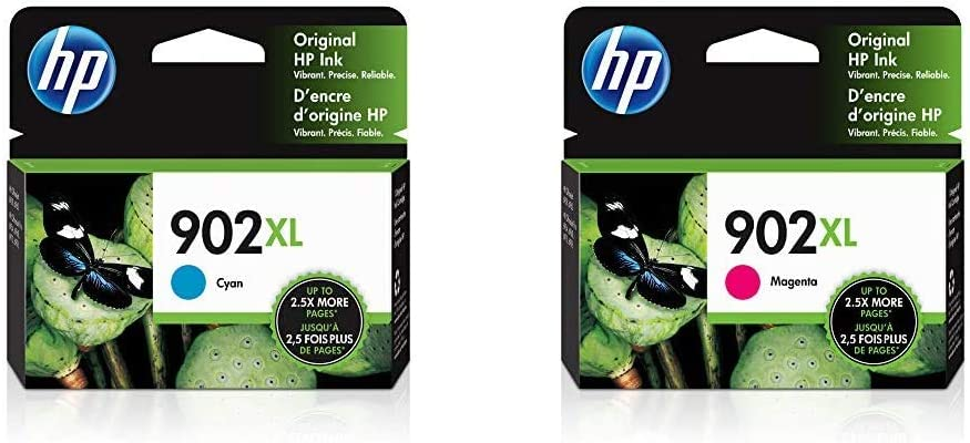 HP 902XL | Ink Cartridge | Cyan | T6M02AN & 902XL | Ink Cartridge | Magenta | T6M06AN