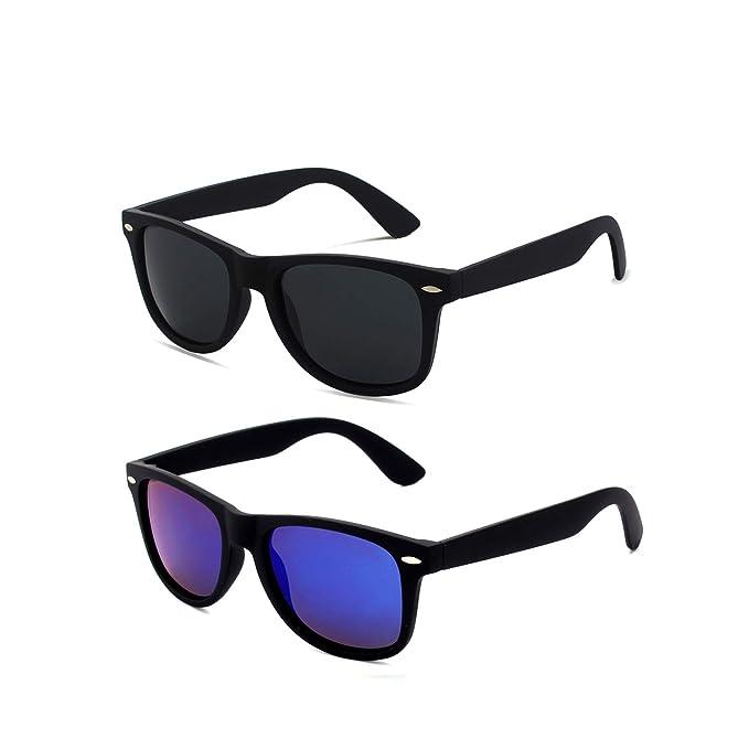 Amazon.com: LINVO Gafas de sol polarizadas de estilo retro ...