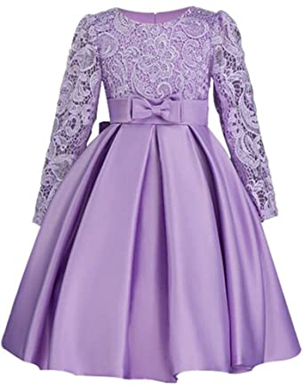 c0d1ec24aa9 Image Unavailable. Image not available for. Color  Long Sleeve Flower Girl  Dresses ...