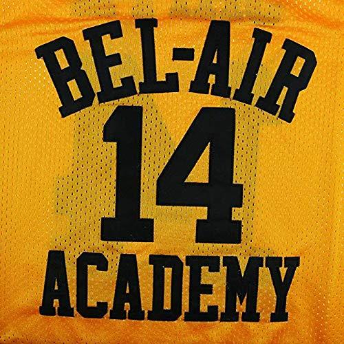 CoreSpot Die Fresh Prince of Bel Air Jersey Academy Golden gen/äht # 14/Will Smith Jersey anpassen Edition