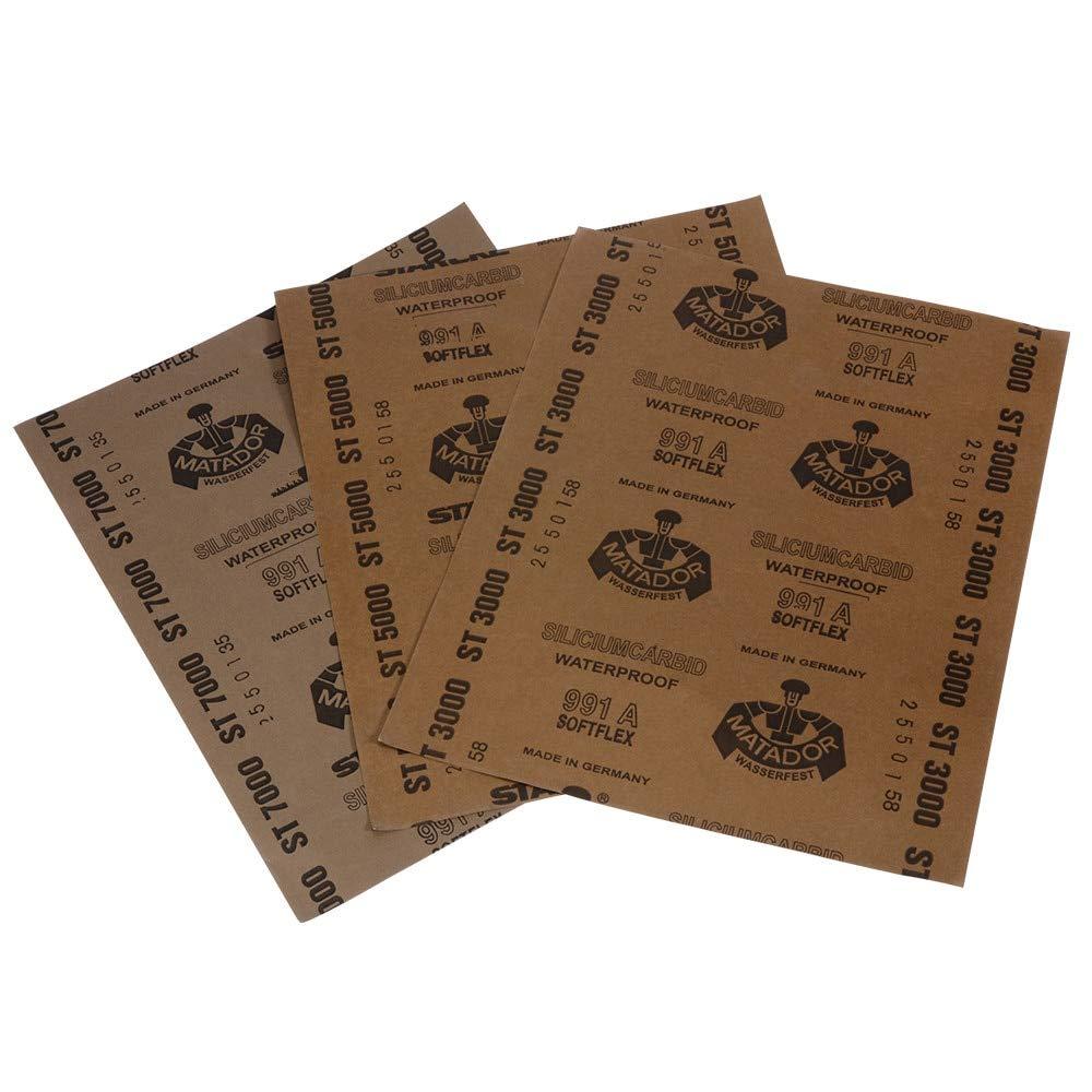 YHJGKO sandpaper3000 5000 7000 Grit Furniture Sandpaper Automotive Sanding Paper Sheet tool grind Dry Wood Wet Surface polish Abrasive Finishing-in Abrasive Tools from Tools,Brown
