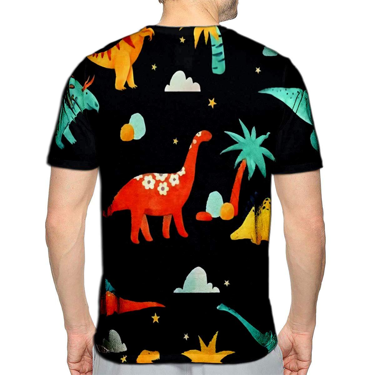 PUTIEN Animal Print Decor Girl Regular-Fit Short-Sleeve Shirt,Personality Pattern,Tint
