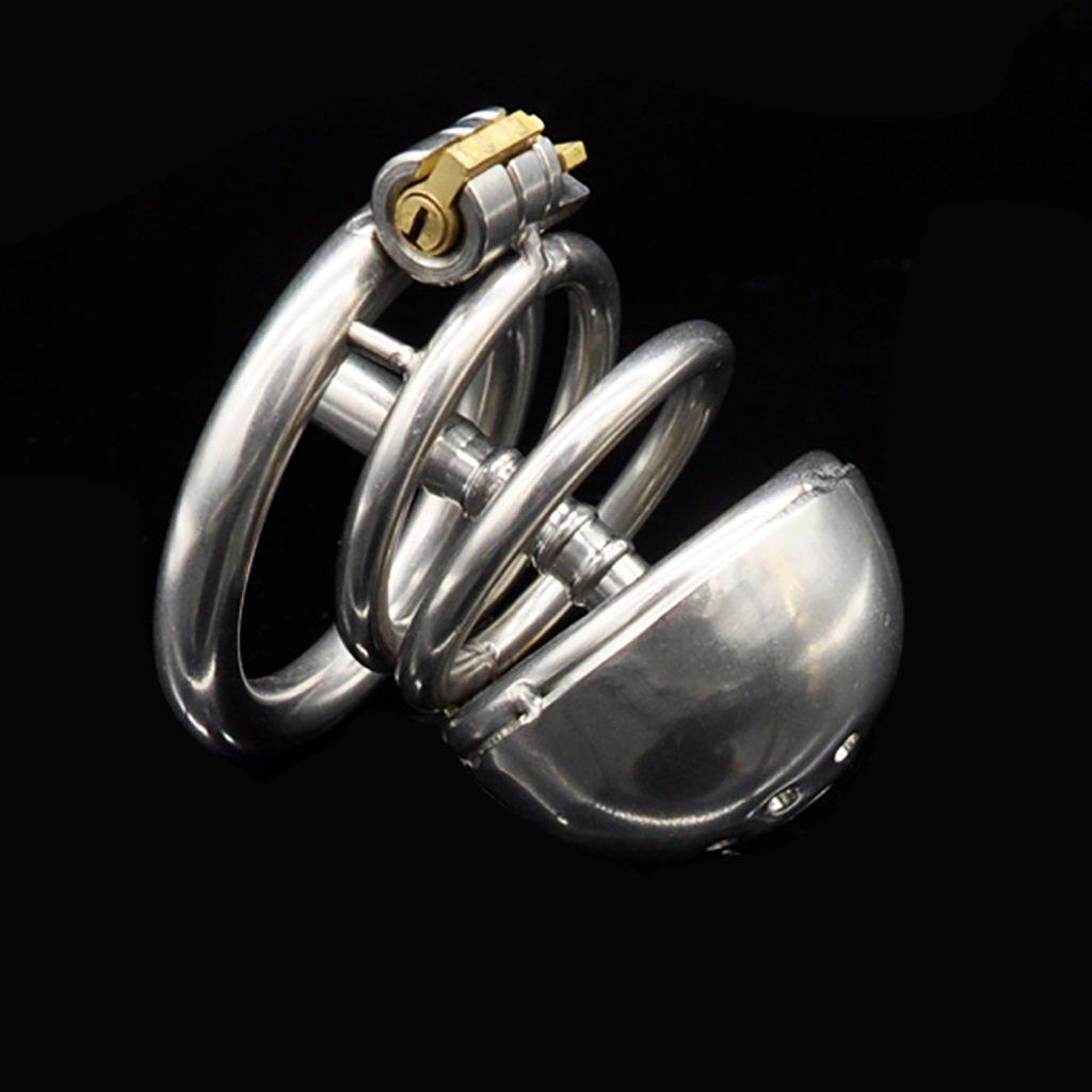 Q-HL Jaulas de pene Cinturones de castidad castidad de Chastity jaula, juguetes sexuales, cerradura de virginidad de acero inoxidable de los hombres, dispositivo de cinturón de grillete para hombres y mujeres A21 c2b49f