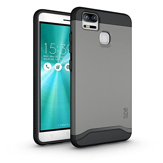 online store ed439 6ee2f TUDIA ZenFone 3 Zoom Case, Slim-Fit Heavy Duty [Merge] Extreme  Protection/Rugged but Slim Dual Layer Case for Asus ZenFone 3 Zoom  (ZE553KL) (Metallic ...