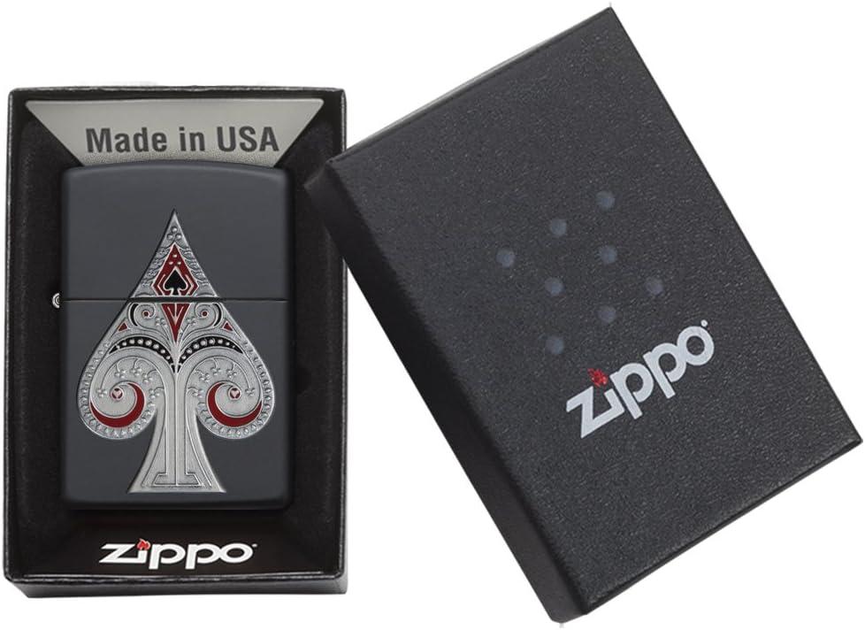 Zippo/ Color Negro Mate /Mechero con Emblema de Pala Regular Talla /única