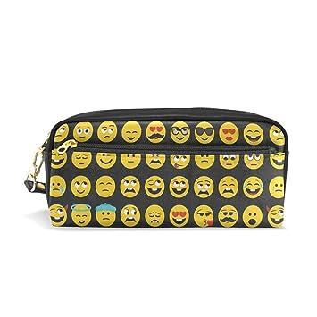 Emoji Emoticon - Estuche de piel para lápices y bolígrafos ...