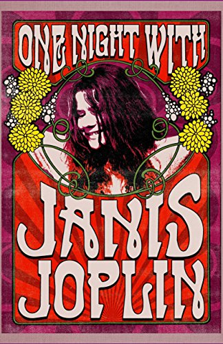 Old Tin Sign Concert Posters One Night With Janis Joplin
