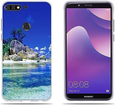 DIKAS Funda para Huawei Y7 2018/ Y7 Prime 2018/ Y7 Pro 2018/ Enjoy ...