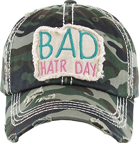 - H-212-BHDC00 Bad Hair Day Hat - Camo