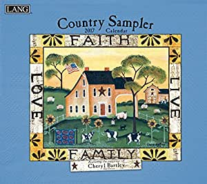 lang 2017 country sampler wall calendar x 24 inches 17991001906 office. Black Bedroom Furniture Sets. Home Design Ideas